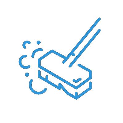 Icon Bodenschrubben blau