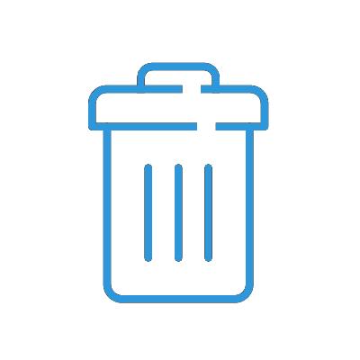 Icon Mülleimer blau