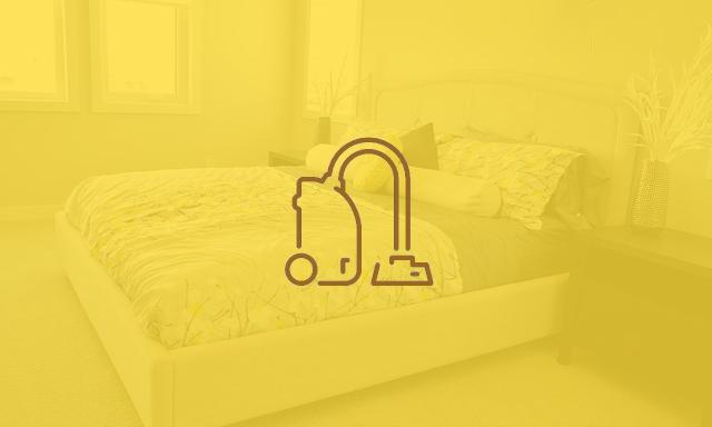 Schlafzimmer eingefärbt mit Icon